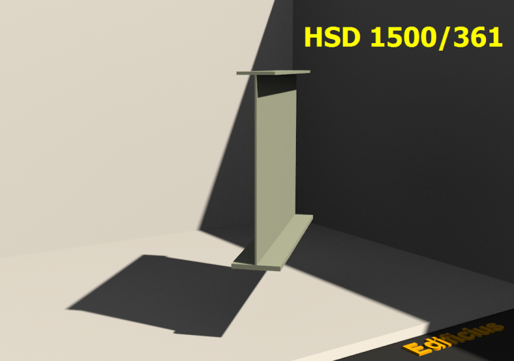 Perfiles soldados 3D - HSD 1500/361 - ACCA software