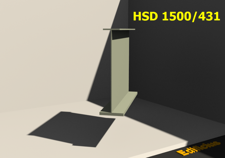 Perfiles soldados 3D - HSD 1500/431 - ACCA software