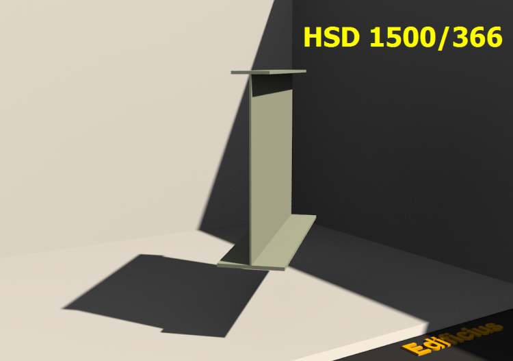 Perfiles soldados 3D - HSD 1500/366 - ACCA software
