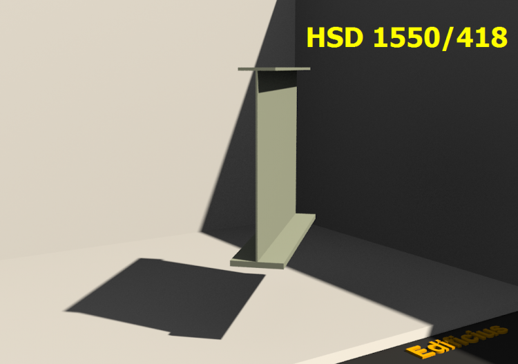 Welded Profiles 3D - HSD 1550/418 - ACCA software