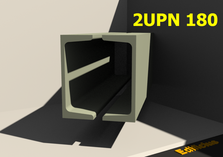 Composite Profiles 3D - 2UPN 180[20.0] - ACCA software
