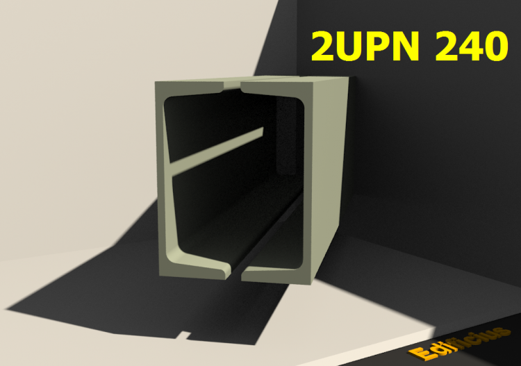 Composite Profiles 3D - 2UPN 240[20.0] - ACCA software