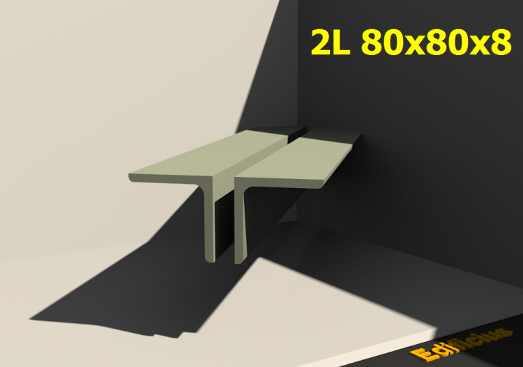 3D Profile mehrgliedrig - 2L 80x80x8[20.0] - ACCA software