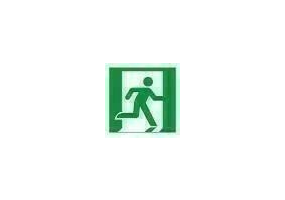Signs - Emergency exit to the right