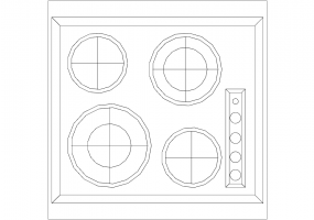Kitchens DWG - Cooking Top 004
