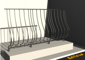 3D Railings - Balustrade [VM] - Shaped pole