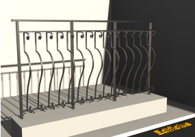 3D Railings - Classic [VM] - Shaped Pole