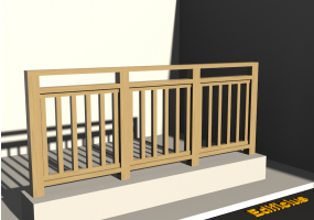 3D Railings - Classic in wood [VM]
