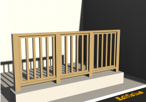 3D Railings - Balustrade in wood [VM]