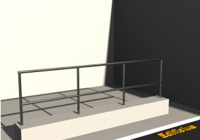 3D Parapet - Handrail and one crossbar