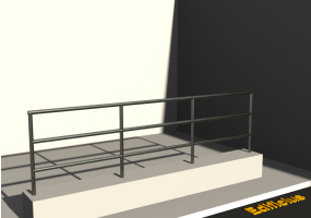 3D Parapet - Handrail and two cross bars