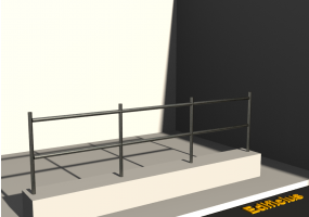 3D Parapet - Two crossbars