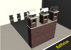 3D Chimneys - Masonry (03)