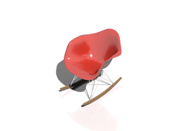 Sedia 3d sedia vitra eames plastic rar acca software for Sedia vitra eames