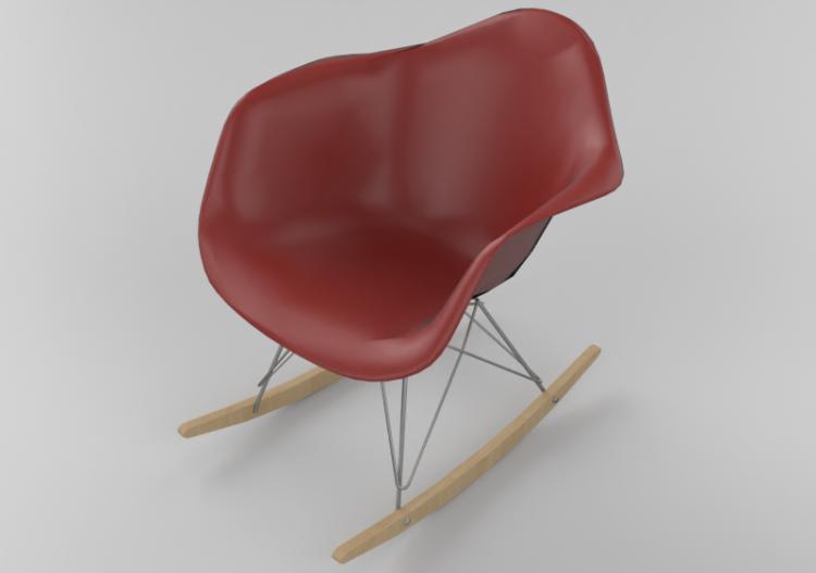 Sedia A Dondolo Vitra.Sedie 3d Sedia Vitra Eames Plastic Rar Acca Software