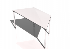 3D Table - Map Table 150x75 trapezium shaped