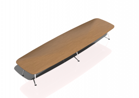 3D Table - MedaMorph Conference Table Boatsform (500x140)