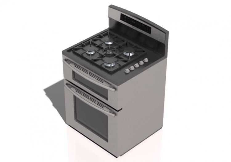 Elettrodomestici 3d cucina a gas 4 fuochi con doppio - Elettrodomestici cucina a gas ...