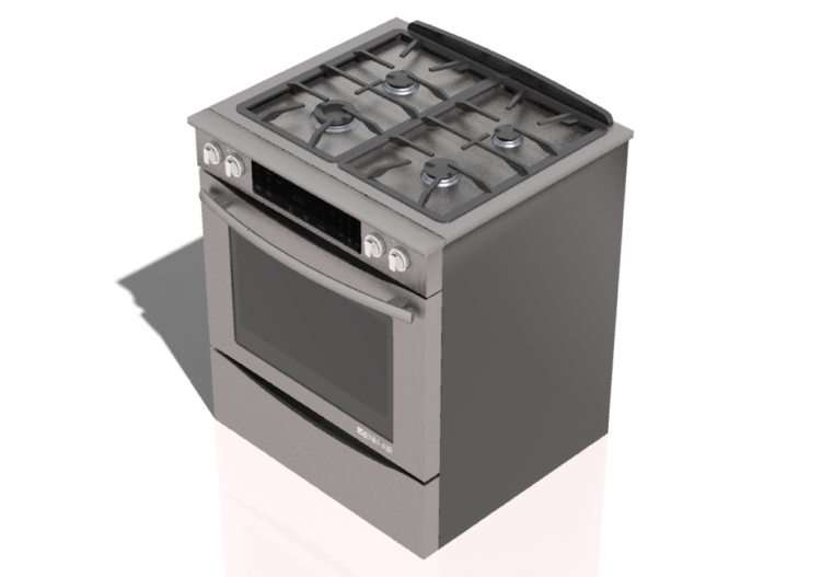 Cucine 3D - Free standing kitchen with 6 gas burners and...