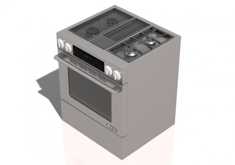 Elettrodomestici 3d cucina 4 fuochi a gas con forno 30 - Elettrodomestici cucina a gas ...