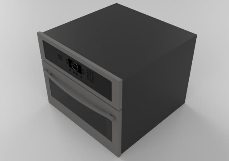 Elettrodomestici 3D - Forno microonde da incasso -...