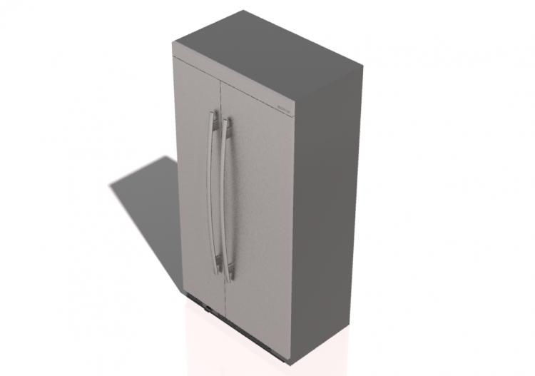 Side By Side Kühlschrank Whirlpool : 3d haushaltgeräte eingebauter kühlschrank side by side