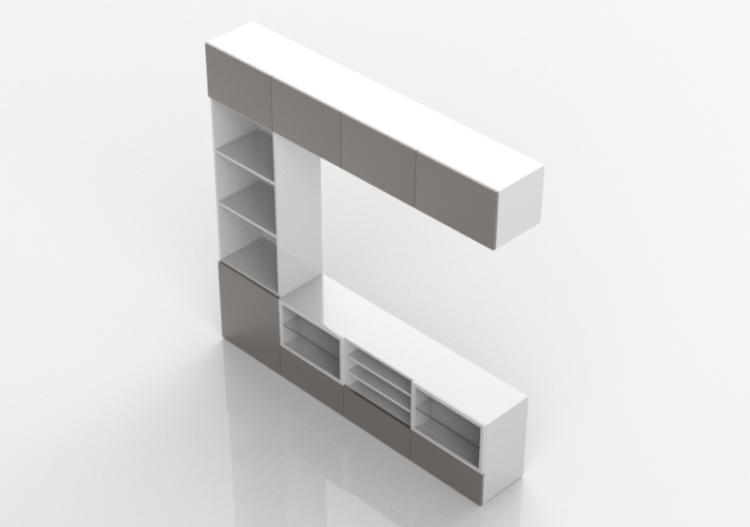 Ikea Tv Kasten : 3d schrankwände tv schrank stil ikea komp 2 acca