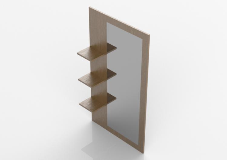 Specchi 3D - Specchio alto con mensole - ACCA software