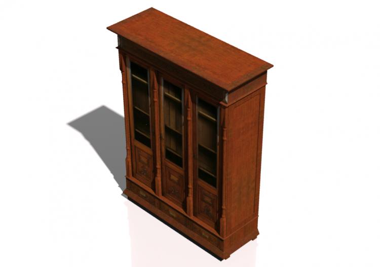 Mobili 3d libreria classica acca software - Mobili libreria classica ...