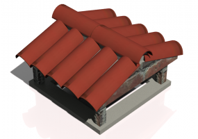 Chimneys and chimney pots 3D - Chimney terminal