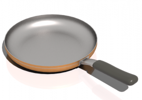 Pans and Containers 3D - Frying Pan