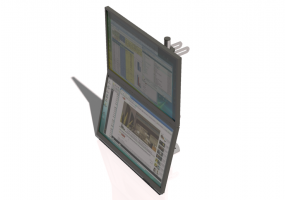 Dual vertical Monitor support system - CGM