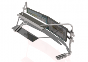 Steel Multi-Monitor support system with lighting system - CGM