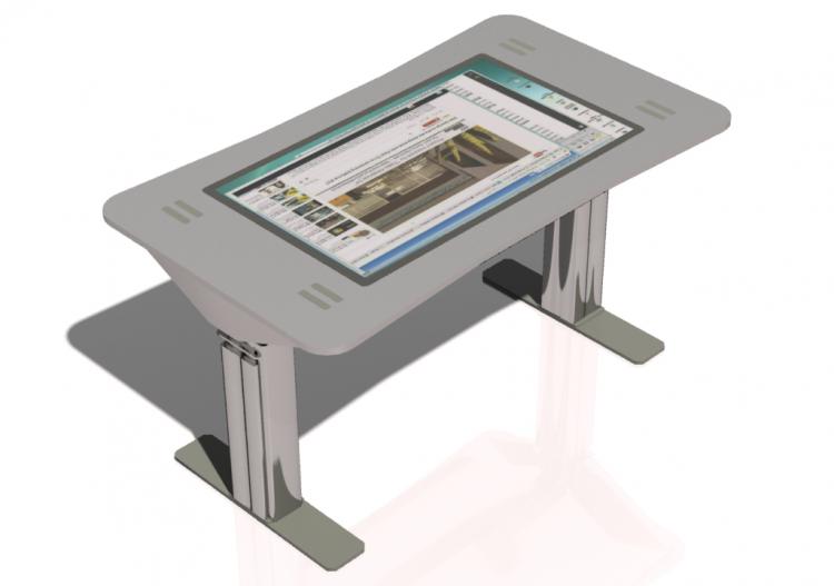 Touch screen desk hostgarcia for Mini makeup desk