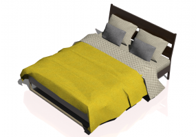 Beds and Side Cabinets 3D - Bed Structure 160x200cm