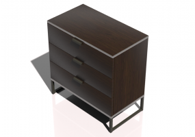 Wardrobes and Cabinets 3D - Bedside cabinet with 3 drawers