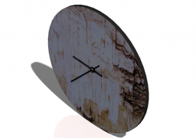 3D Paintings - Orologio da parete - Old wood wall clock