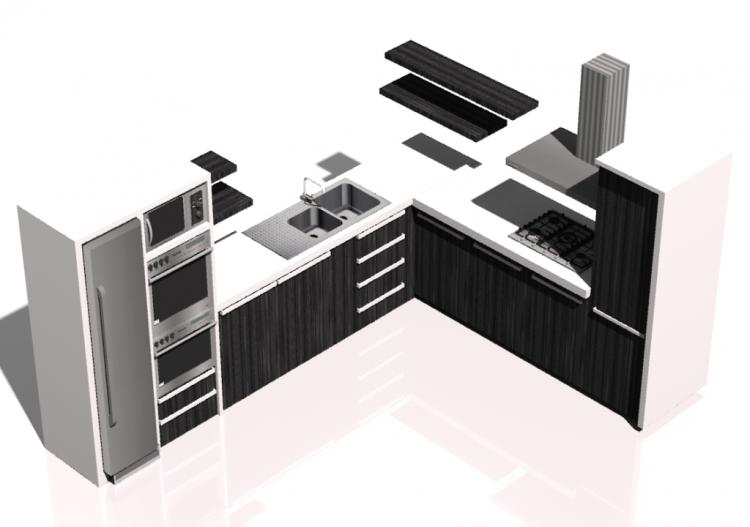 3d m bel cucina angolare acca software. Black Bedroom Furniture Sets. Home Design Ideas