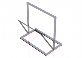 3D Exhibitor - Clothes stand 100x60x100cm