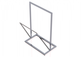 3D Exhibitor - Clothes stand 100x60x150cm