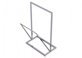 3D Exhibitor - Clothes stand 100x60x160cm