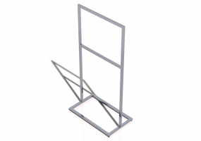 3D Exhibitor - Clothes stand 100x60x200cm