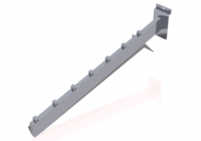 3D Accessories - Inclined Clothes rack bracket 30cm