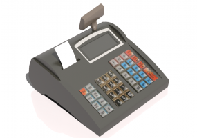 3D Electronic Devices - Cash register