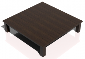 3D Tables - Solid Wood coffee table 150x150x35cm - Sierra - 22612
