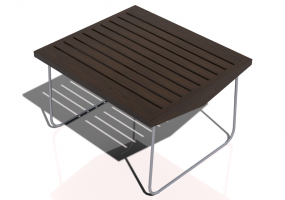 3D Tables - Solid Wood coffee table 75x65x45cm - Sierra - 22614