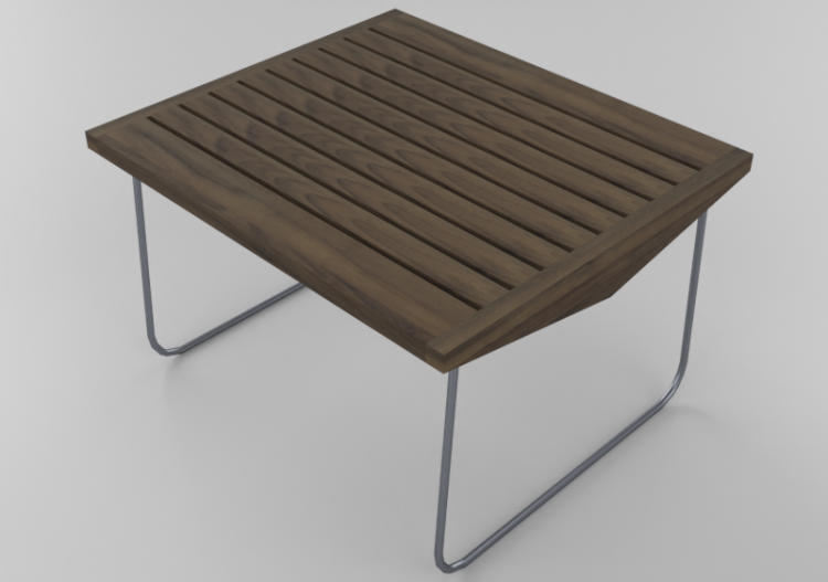 Tavoli 3D - Tavolino in legno massello 75x65x45cm - Sierra...