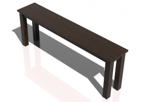 3D Tables - Solid wood table 220x40x80cm - Sierra - 22631
