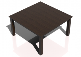 3D Tables - Solid wood table 150x150x80cm - Sierra - 22640