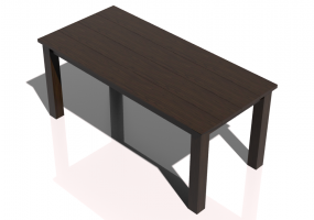 3D Tables - Solid wood table 180x85x80cm - Sierra - 22641